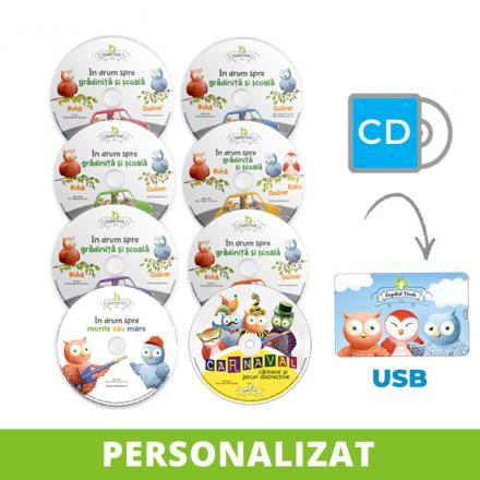 Conversie CD - USB MP3 Seria Buha & Owliver, personalizată integral (8 vol.)