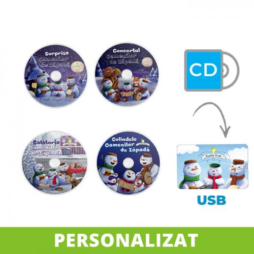Conversie CD - USB MP3 Seria Oamenii de Zăpadă, personalizată (4 vol.)