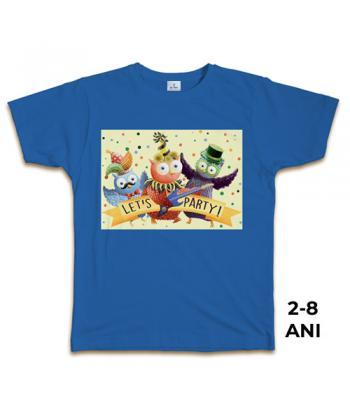 Tricou albastru pt. copii,  2-8 ani, 100% bbc, Carnaval - colecţia Buha & Owliver