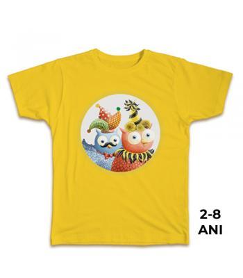 Tricou galben pt. copii, 2-8 ani, 100% bbc, Carnaval - colecţia Buha & Owliver