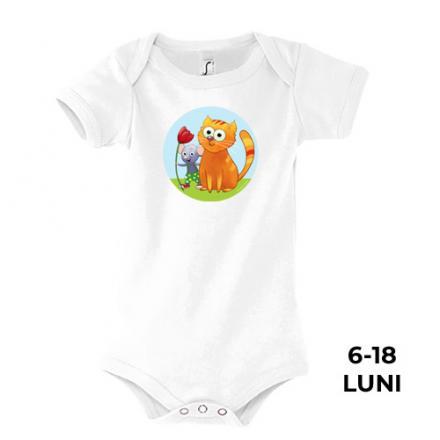 Body Bambino, 6-18 luni, 100% bumbac, colecţia Popică şi Polonica