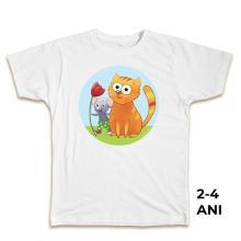 Tricou pentru copii, 2-4 ani, 100% bumbac, colecţia Popică şi Polonica