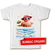 Tricou pentru copii - Buha la plajă- croială BĂIEŢI