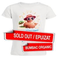 Tricou pentru adulţi - Buha la plajă - model DAMĂ
