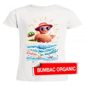 Tricou pentru copii - Buha la plajă - croială FETE