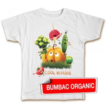 Tricou pentru. copii  - Legume melomane (organic), model BĂIEŢI