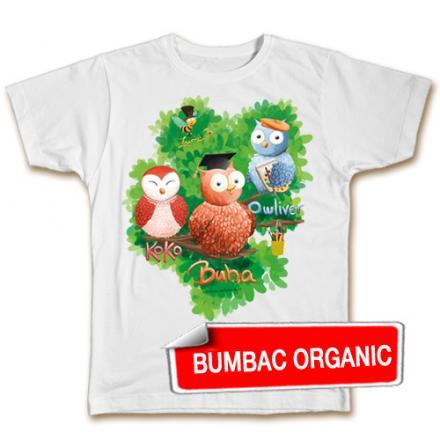 Tricou pt. copii - Buha & prietenii (organic) - croială BĂIEŢI